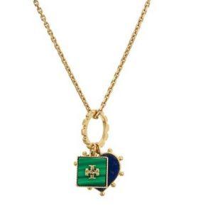 Nwot Tory Burch Semi-precious Charm Necklace